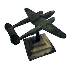 Airplane Model, in the Raw, with Base.