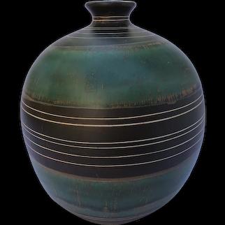 Midcentury white clay vase