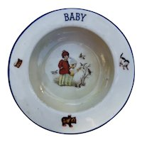 Baby's First Dish Circa 1920's Czechoslovakian Ceramic
