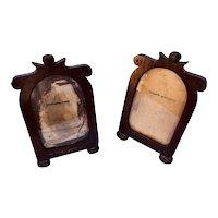 Pair of Folk Art Wooden frames for your favorite photographs