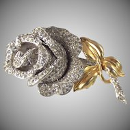 Coro Rose Fur Pin