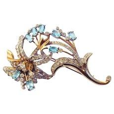 Reja sterling vermeil flower pin