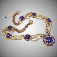 Vintage 1950's Bijoux Elfe, Florence, Lariat Necklace