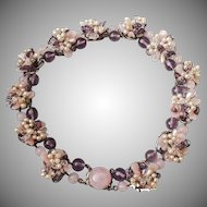 Louis Rousselet purple floral necklace