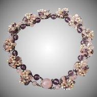 Louis Rousselet purple floral necklace