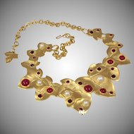 Marvella gold tone chain and Maple Leaf linked Necklace.