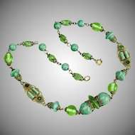 Czech, Neiger, Peking Glass Necklace