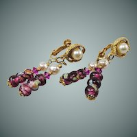 Hobe Venetian Glass drop earrings