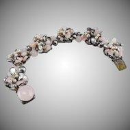 Louis Rousselet, French, vintage 1940's floret bracelet.