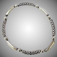 Early 1940's sterling silver Taxco Mexican necklace.