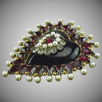 Early 1920's  Chanel Heart Brooch