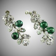 Vintage 1950's French earrings by Roger Jean Pierre.