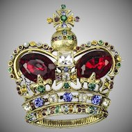 "Mazer Bothers Crown Brooch from the 1949 collection ""Crown Jewels"""