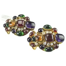 Magnificent, large, bold, Chanel Gripoix Earrings