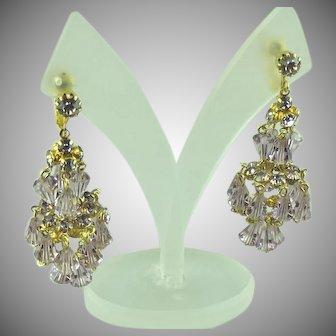 Hattie Carnegie Pink Chandelier Earrings