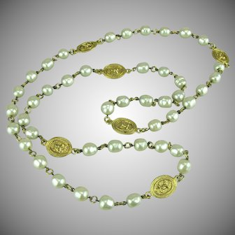 Chanel Gripoix Glass Pearl Sautoir