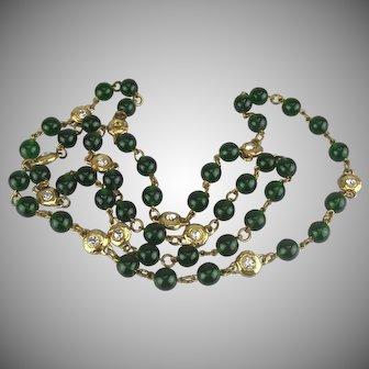 Chanel Green Gripoix Glass Sautoir