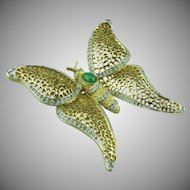 Panetta large Butterfly Brooch.