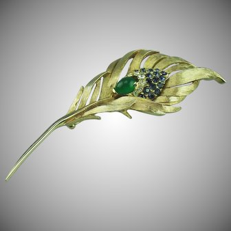 Marcel Boucher Peacock Feather Brooch.