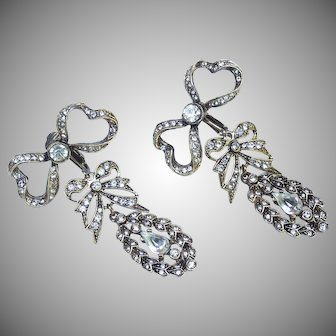 "Kenneth J Lane Belle Epoque design drop earrings from the Marie Antoinette ""Let Them Eat Cake"" jewellery range."