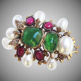 Rare Chanel brooch/pendant by Robert Goossens, 1950's.