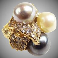 Christian Dior Glass Pearl Ring by Henkell & Grosse.
