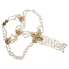 bf6849d6 1970s Mod Pendant Necklace by Christian Dior : MadgesHatbox Vintage ...