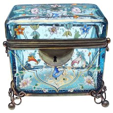 late 19th. century Moser Enamelled Jewel casket