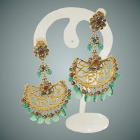Vintage Jose & Maria Barrera Egyptian Revival earrings.