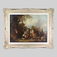 Antique oil on board panting by William Shayer Snr 1787-1879 art work signed