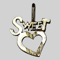 10k yellow gold Sweet Hart pendant