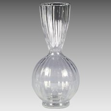 "8""H Vintage French Baccarat clear lead crystal Vase marked"