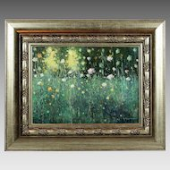Oil board painting Wild Flowers established Ukrainian artist Martunuik signed
