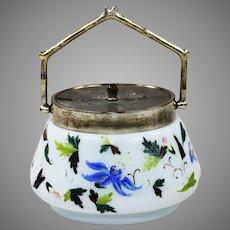 Antique white opaline glass Sugar Bowl