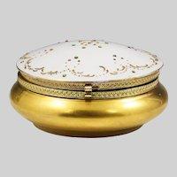 Vintage Trinket or jewelry gilded porcelain Box
