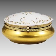 Vintage Trinket or jewelry gilded porcelain Box