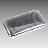 German silver 900 and Niello cigarette case gilded inside