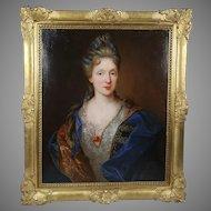 Nicolas de Largilliere 1656-1746 Antique French oil canvas Portrait painting