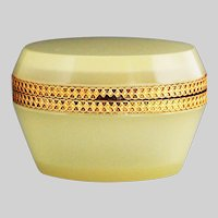 Italian opaline crystal glass hinged Box or Casket