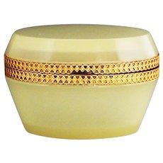Italian opaline crystal glass hinged Box or Casket
