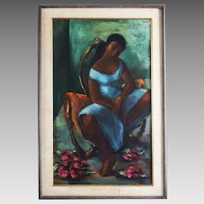 Jan De Ruth (1922-1991) Oil on canvas signed by Czech /American artist