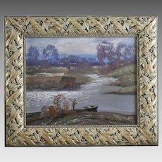Anatoly Shariy 1936- Ukrainian Landscape oil on board signed