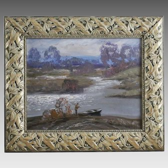 Anatoly Shariy 1936- Ukrainian Landscape oil on board signed