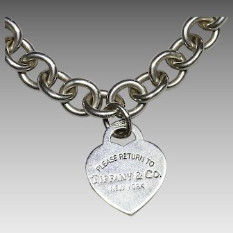 Please Return to Tiffany sterling silver chain Necklace