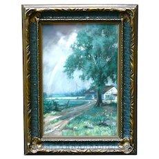 American Henry (HY) Hintermeister (1897-1970) signed pastel JUNE