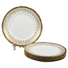 set 6 Antique Luncheon porcelain Plates by Adderleys Ltd England
