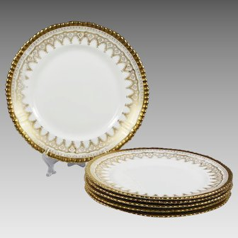 set 6 Antique Luncheon porcelain Plates by Adderleys Ltd England