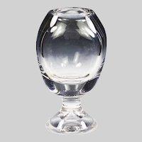 Vintage Saint Louise clear crystal round triangular Vase large very heavy