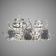 Antique Austro Hungarian silver Tea Coffee service set