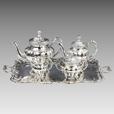 Antique Austro Hungarian silver Tea Coffee service set